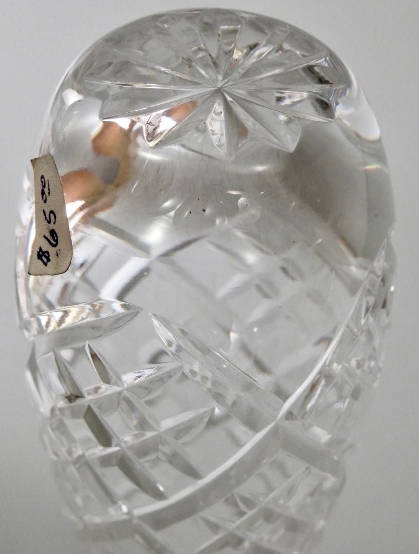 Vintage English Royal Doulton Cut Crystal Soliflore - 5