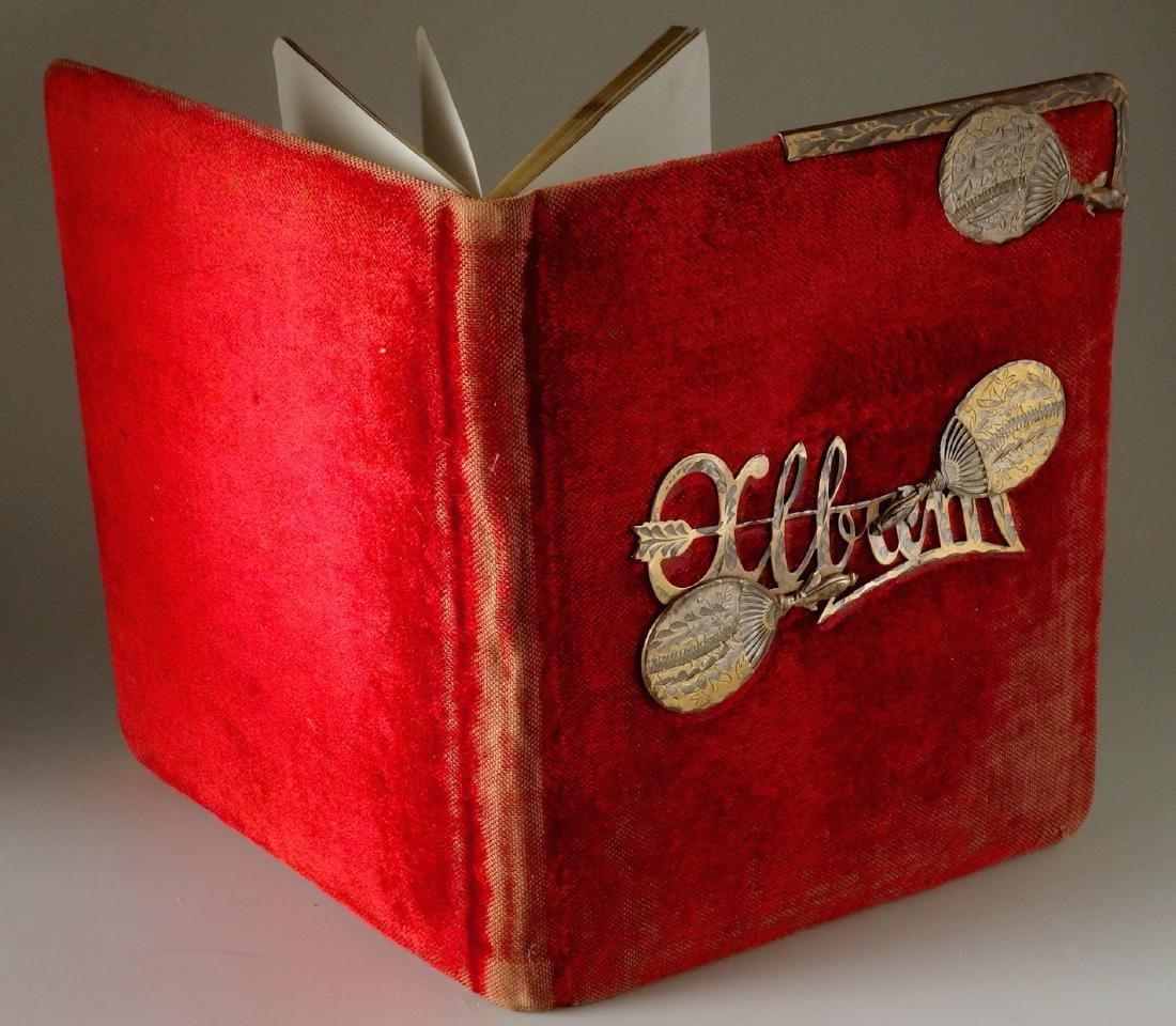 Victorian Red Velvet Album Empty Pages - 3