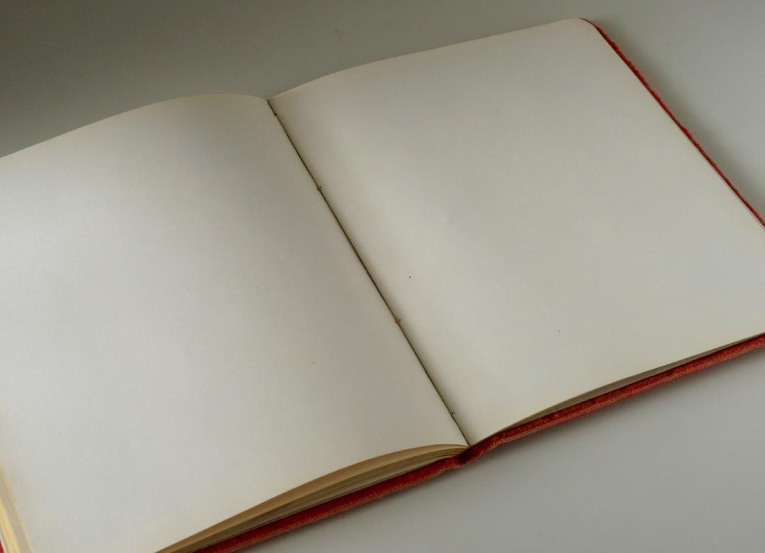 Victorian Red Velvet Album Empty Pages - 7