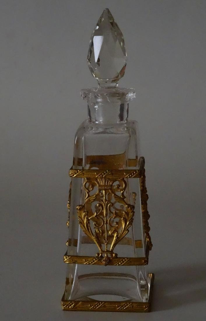 Antique French Ormolu Glass Baccarat Quality Perfume