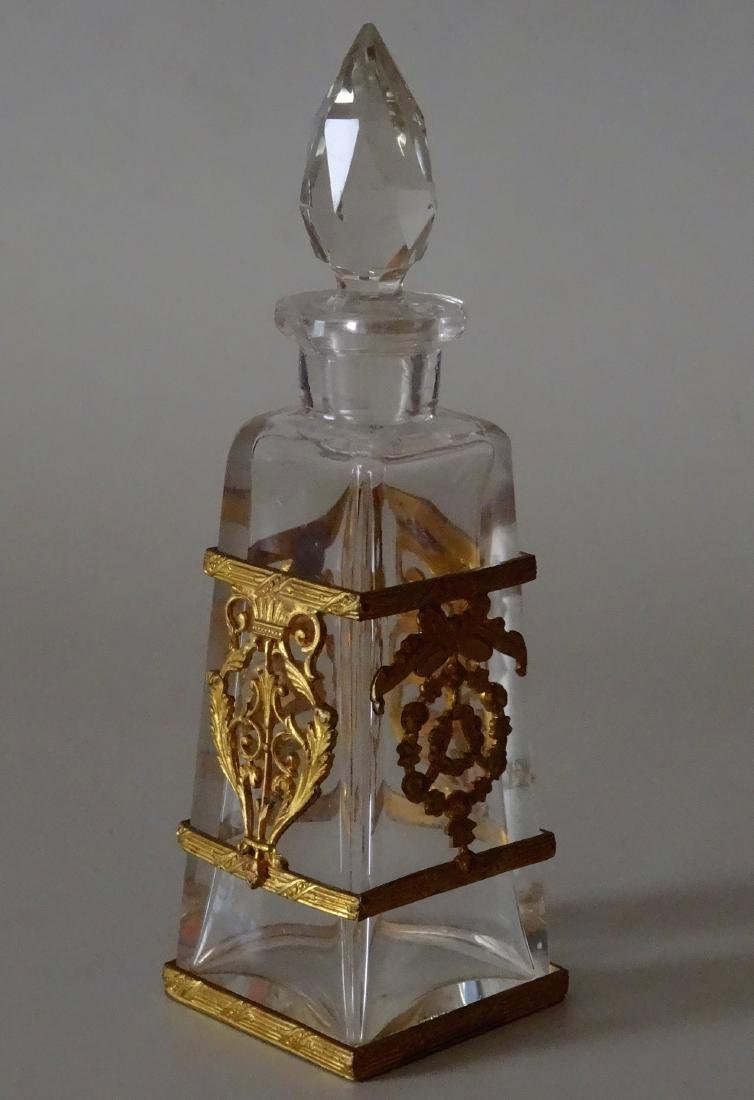 Antique French Ormolu Glass Baccarat Quality Perfume - 2