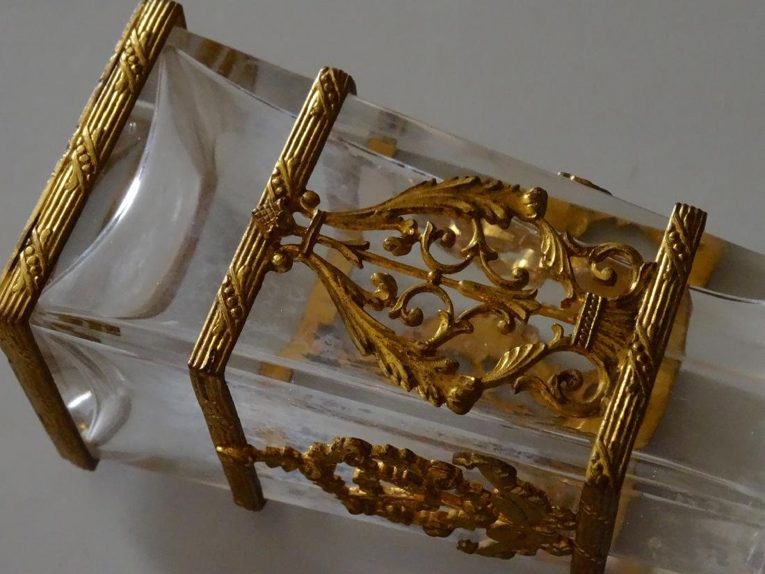 Antique French Ormolu Glass Baccarat Quality Perfume - 5