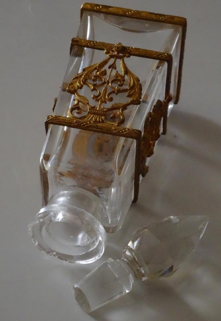 Antique French Ormolu Glass Baccarat Quality Perfume - 6