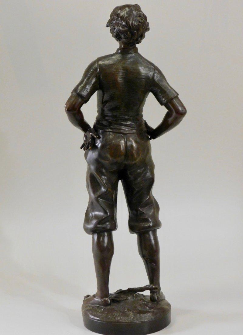 Louis Moreau Bronze Painted Spelter Equestrian Statue o - 3