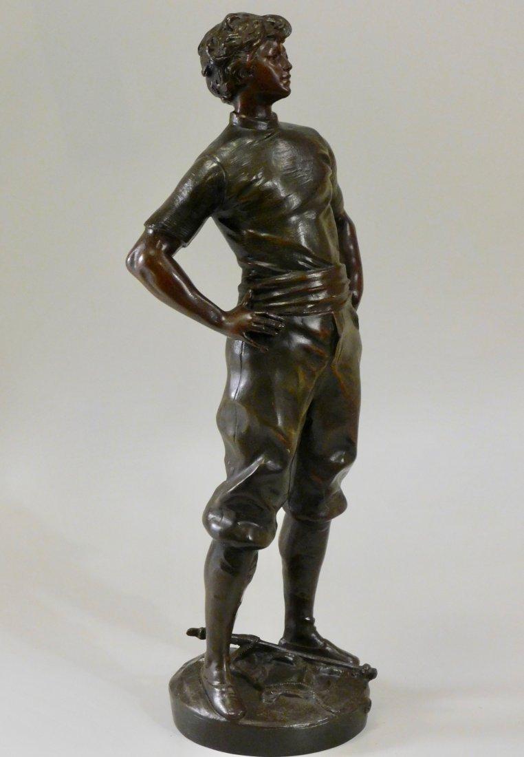 Louis Moreau Bronze Painted Spelter Equestrian Statue o - 4
