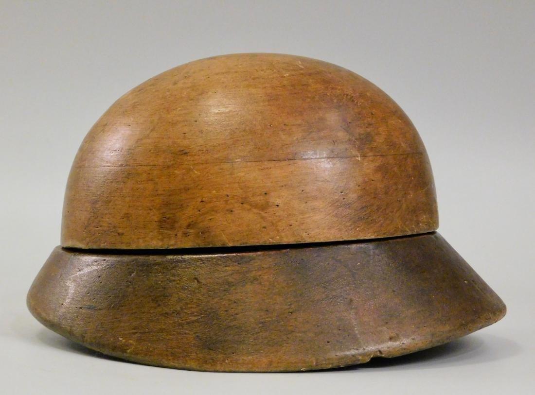 Vintage c1930 Hat Mold Wood Block Hat Form