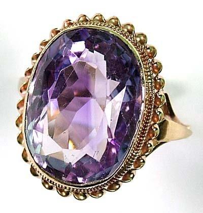 5: Ladies' amethyst ring