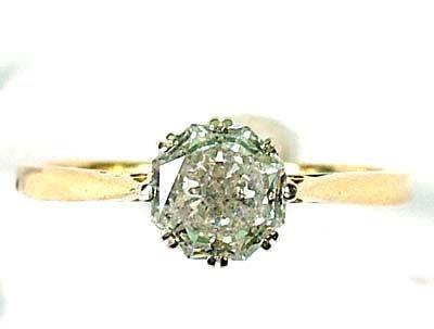 7: Ladies' diamond solitaire ring