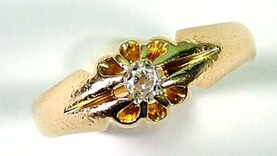 8: Gent's diamond set gypsy ring