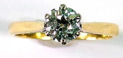 10: Ladies' diamond solitaire ring