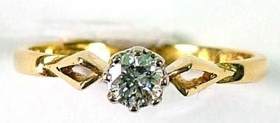 11: Ladies' diamond solitaire ring