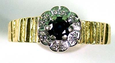 12: Ladies' sapphire and diamond cluster ring