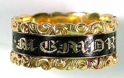 13: Antique memorial ring