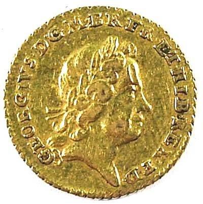 501: George I quarter guinea, 1718