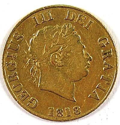 515: George III half sovereign, 1818