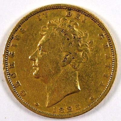 518: George IV sovereign, 1825