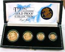 672 Elizabeth II gold proof set 1982