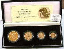 674 Elizabeth II gold proof set 1985