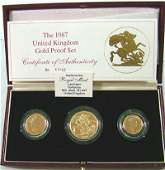 675 Elizabeth II gold proof set 1987