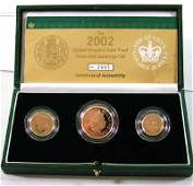 677 Elizabeth II gold proof set 2002