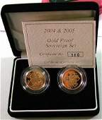 678 Elizabeth II gold proof sovereign set
