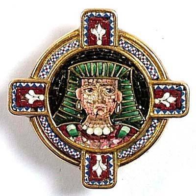 2: Micro-Mosaic lapel brooch
