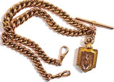 4: Antique double Albert chain