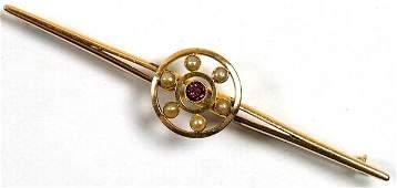 5: Antique bar brooch