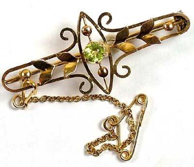 7: Antique ornate bar brooch