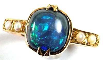 11: Ladies' antique opal triplet ring