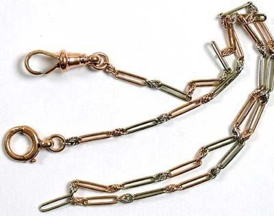 16: Antique single Albert chain