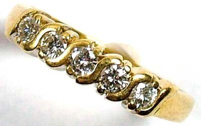 18: Ladies' diamond half eternity ring