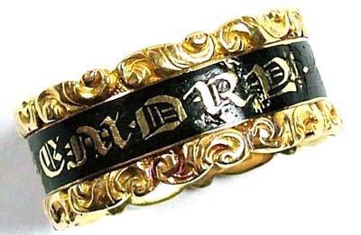 20: Antique memorial ring