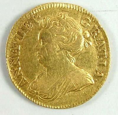 528: Anne half guinea, 1714
