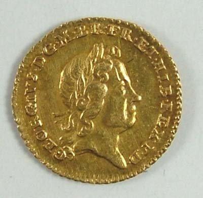 529: George I quarter guinea, 1718
