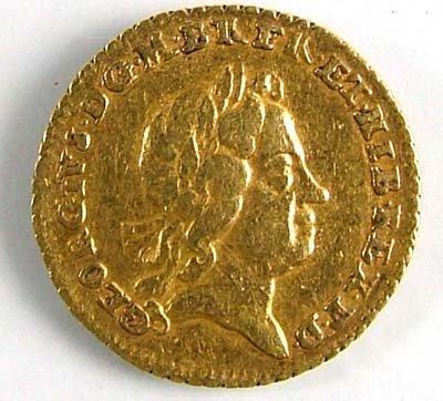 530: George I quarter guinea, 1718