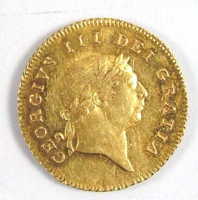 535: George III half guinea, 1810
