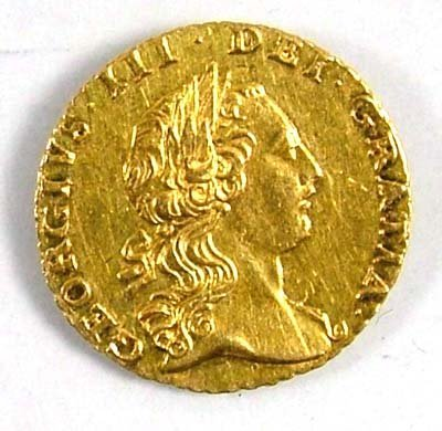 537: George III quarter guinea, 1762