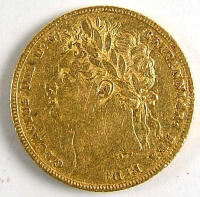 539: George IV sovereign, 1821