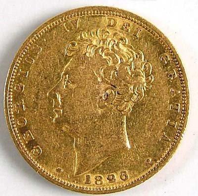 541: George IV sovereign, 1826