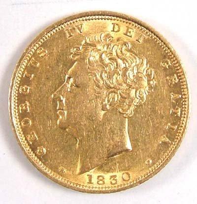 542: George IV sovereign, 1830