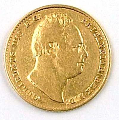 543: William IV sovereign, 1836