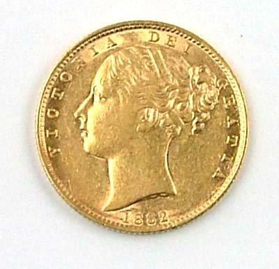 548: Victoria, sovereign, 1882 S