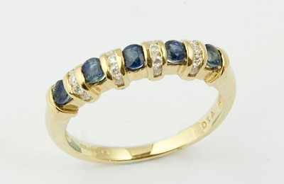 12: Ladies half eternity ring