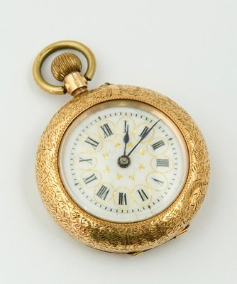 17: Ladies ornate fob watch