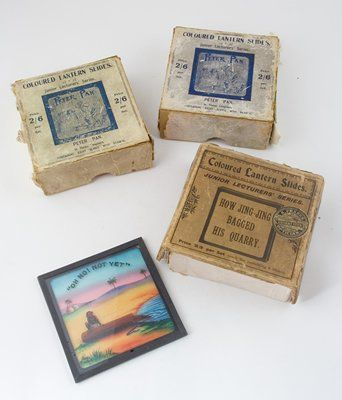 Coloured magic lantern slides in boxes of eight (3