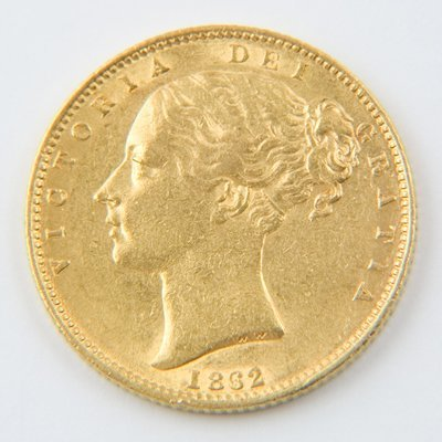 466: Victoria, young head, sovereign, 1862