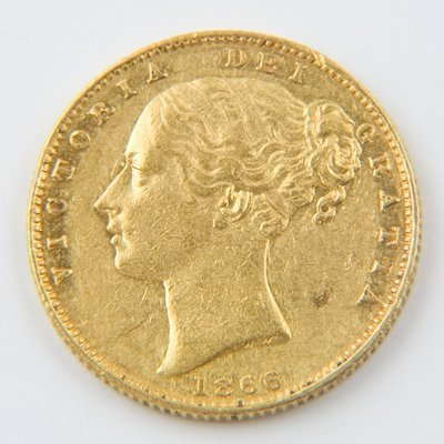 467: Victoria, young head, sovereign, 1866