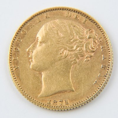 468: Victoria, young head, sovereign, 1871