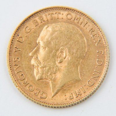 473: George V, half sovereign, 1913